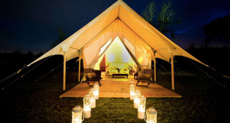 book safari suite bell tent